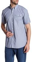 Saturdays NYC Flynn End-On-End Short Sleeve Trim Fit Shirt