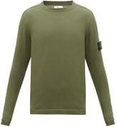 Stone Island Logo-patch Cotton Sweater - Mens - Green