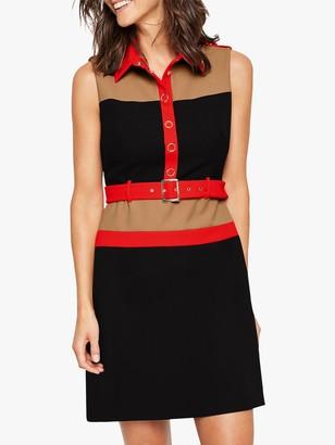 Damsel in a Dress Alondra Colourblock Shirt Dress, Navy/Multi