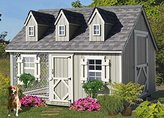 Little Cottage Company Cape Cod Cozy Kennel Panelized Playhouse Kit, 8' x 10'