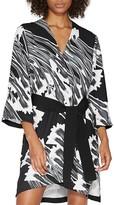 Halston Printed Kimono Dress