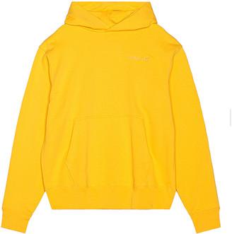 adidas x Pharrell Williams Basics Hoodie in Bold Gold   FWRD