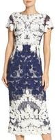 JS Collections Women's Soutache Lace Midi Dress