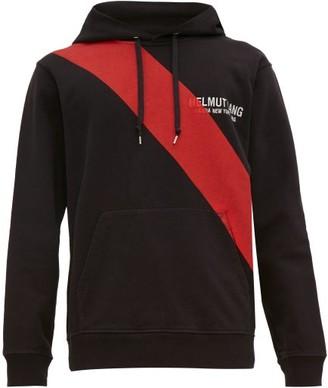 Helmut Lang Sash Print Logo Embroidered Hooded Sweatshirt - Mens - Black Multi