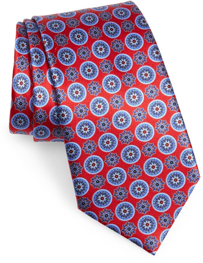 45cd0421 Floral Medallion Silk Tie
