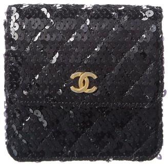 Chanel Black Sequin Single Flap Bag