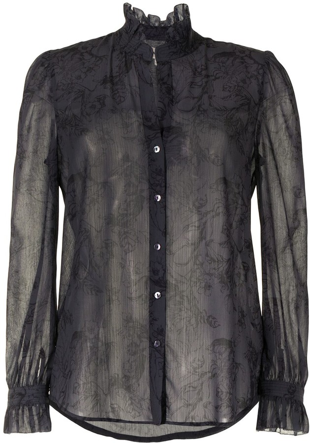 Thumbnail for your product : L'Agence Floral Print Shirt