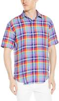Bugatchi Men's Bardot Short Sleeve Shaped Button Down Shirt