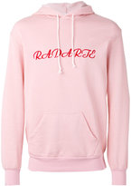 Rodarte embroidered oversized hoodie - unisex - Polyester/Cotton - XS