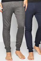 Boohoo 2 Pack Lounge Joggers In Charcoal