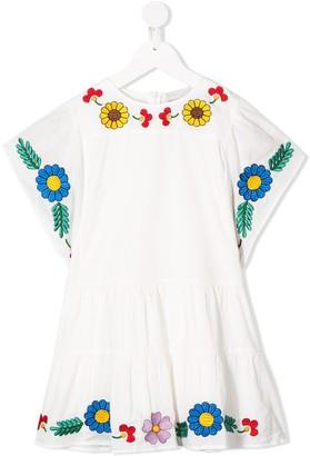 Stella McCartney Floral-Embroidered Kimono Dress