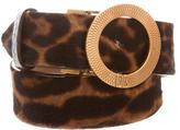 Dolce & Gabbana Ponyhair Buckled Belt