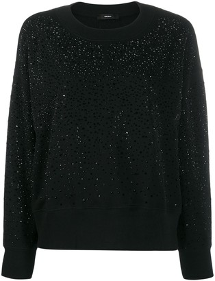 Diesel Crystal Embellished Jumper