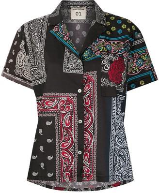 Semi-Couture Semicouture bandana print oversized blouse
