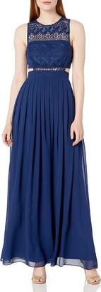 Aidan Mattox Aidan Women's Bandeau Lace and Chiffon Gown