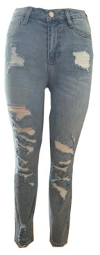 Dollhouse Juniors' Distressed High-Rise Skinny Jeans