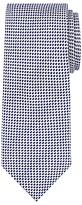 John Lewis Semi Plain Silk Wool Tie, Silver/navy