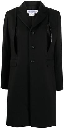 Comme des Garçons Comme des Garçons Long-Sleeved Deconstructed Coat