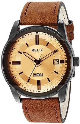 Fossil Relic by Metal and Leather Casual Watch (Model: ZR12229)