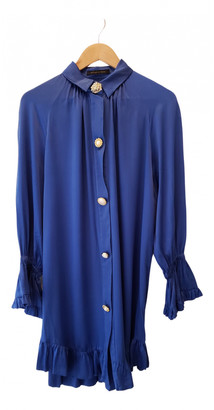 Mother of Pearl Blue Silk Dresses