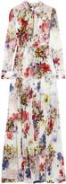 Erdem Denise floral-print silk-chiffon gown