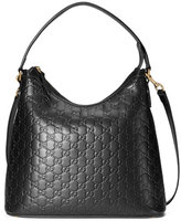 Gucci Guccissima Medium Hobo Bag, Black