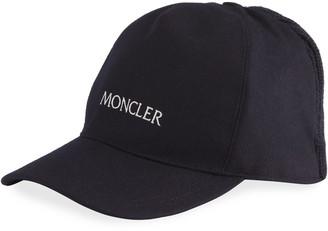 Moncler Men's Logo Baseball Hat with Knit Back