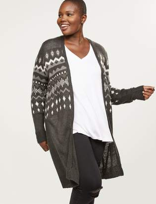 Lane Bryant Fair Isle Sweater Overpiece
