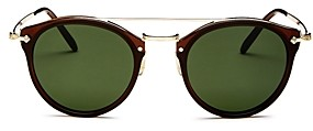 Oliver Peoples Women's Remick Brow Bar Round Sunglasses, 50mm