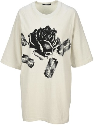 Undercover Rose And Razor Graphic Print Oversized T-Shirt