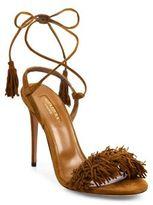 Aquazzura Wild Thing Fringe Suede Sandals