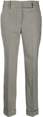 P.A.R.O.S.H. Tapered Houndstooth-Pattern Trousers