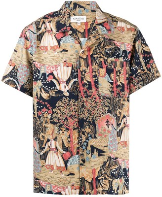 YMC Malick all-over print shirt