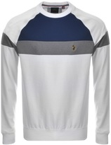 Luke 1977 Adam Colour Block Sweatshirt White