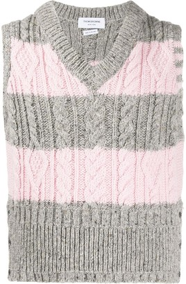 Thom Browne Cable-Knit Vest