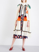 Gucci Rabbit-embroidered wool and cashmere-blend cape