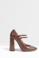 Rochas Patent Mary Jane Pumps
