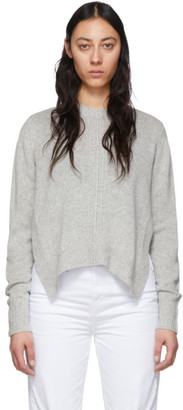 Isabel Marant Grey Cashmere Chinn Crewneck Sweater