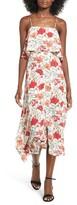 Lush Women's Floral Print Ruffle Midi Dress