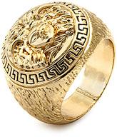Versace King Ice Mens Medusa Yellow Gold Ring