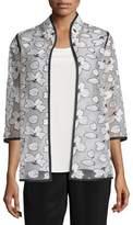 Caroline Rose Magnolia Organza 3/4-Sleeve Jacket, Plus Size