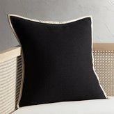 """CB2 20"""" Delaney Black Linen Pillow"""