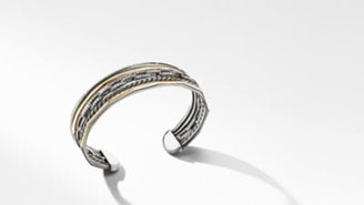 David Yurman Stax Five-Row Cuff Bracelet In Blackened Silver With