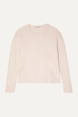 James Perse Vintage Cotton-jersey Top - Pastel pink