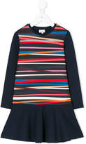 Paul Smith diagonal stripes flared dress