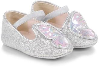Sophia Webster Baby Girl's Butterfly Metallic Flats