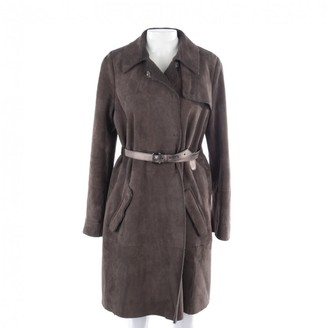 Miu Miu Brown Suede Coat for Women