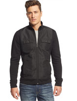 Alfani Big and Tall Reyes Quilted Fleece Jacket, Only at Macy's