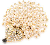Carolee Night at the Museum Faux Pearl Goldplated Hedgehog Pin
