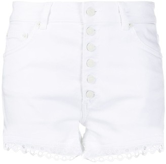 Dondup Broderie Anglaise Trimmed Shorts